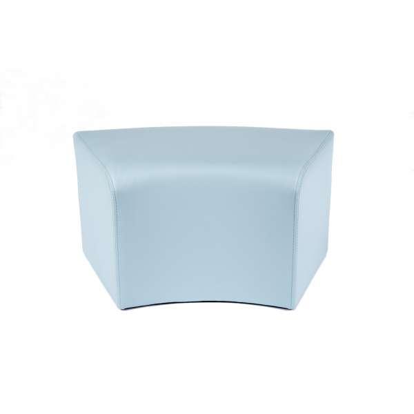 Pouf rectangulaire courbé moderne bleu - Max C1-8 - 3