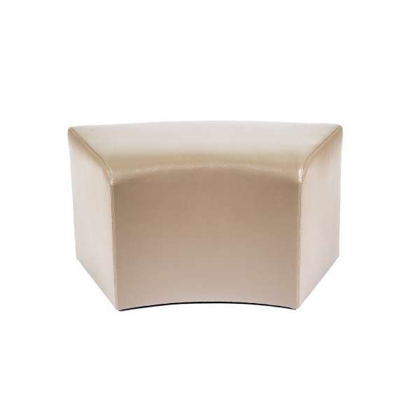 Pouf rectangulaire courbé marron clair - Max C1-8 - 8