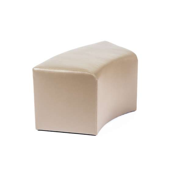 Pouf rectangulaire courbé contemporain marron clair - Max C1-8 - 9