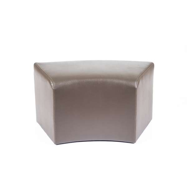 Pouf rectangulaire courbé marron - Max C1-8 - 10
