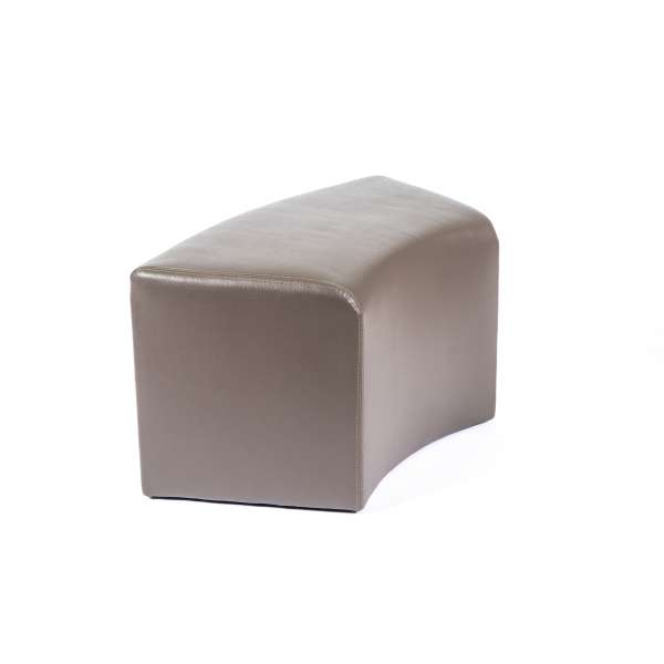 Pouf rectangulaire courbé contemporain marron - Max C1-8 - 11