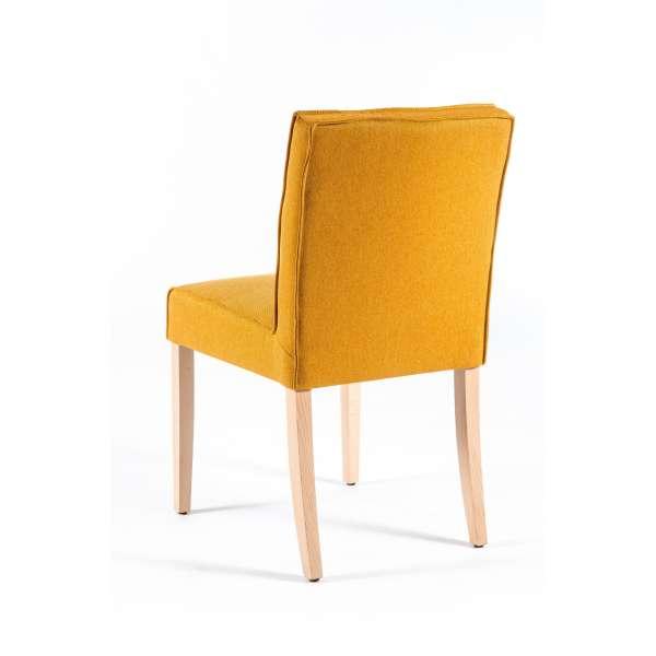 Chaise contemporaine matelassée en tissu et bois - Carpe - 2