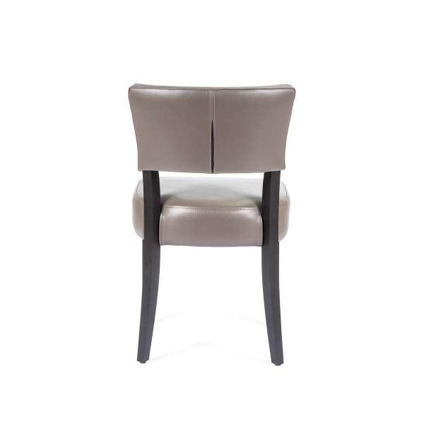 Chaise contemporaine en vinyle et bois - Steffi - 2