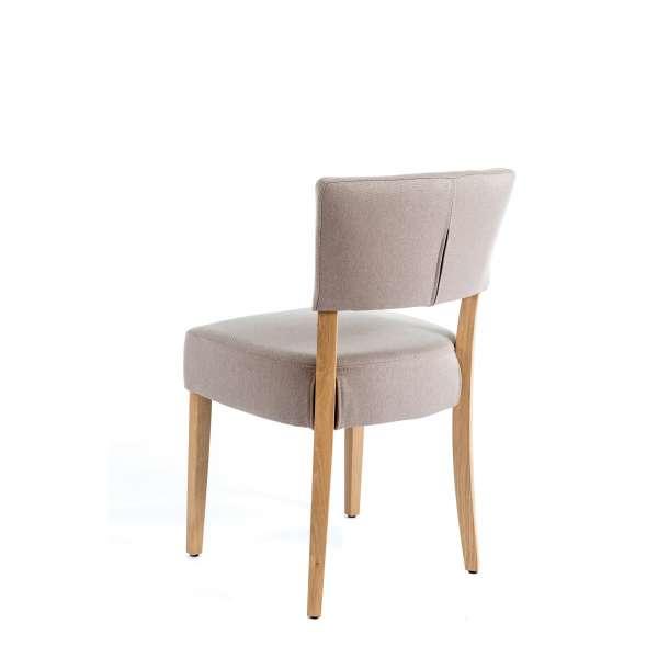 Chaise contemporaine matelassée en tissu et bois - Steffi - 2