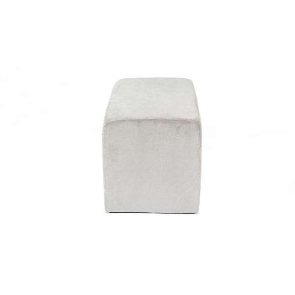 Pouf rectangulaire contemporain en tissu gris - Max Q78 - 2