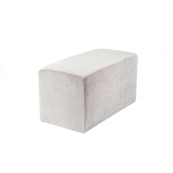Pouf rectangulaire en tissu gris - Max Q78 - 3