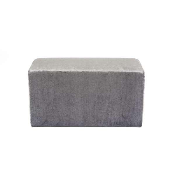 Pouf rectangulaire en tissu gris anthracite - Max Q78 - 4