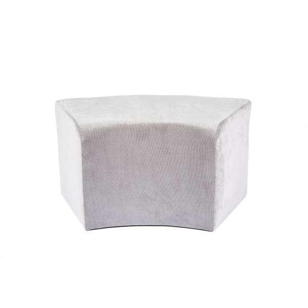 Pouf contemporain courbé en tissu - Max C1-8 - 1