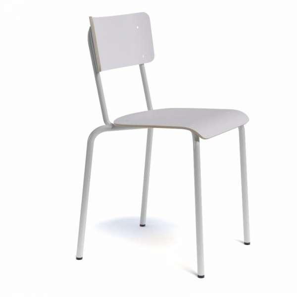 Chaise rétro métal et bois - Collège - 6