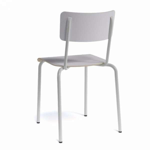 Chaise vintage bois et métal- Collège - 7