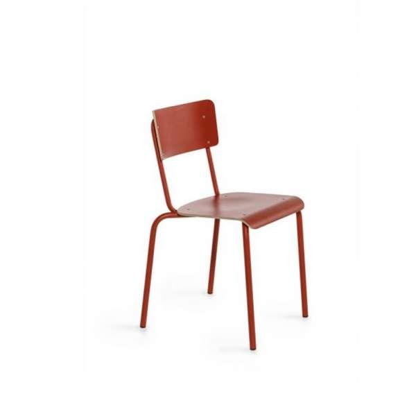 Chaise bois et métal - Collège - 9