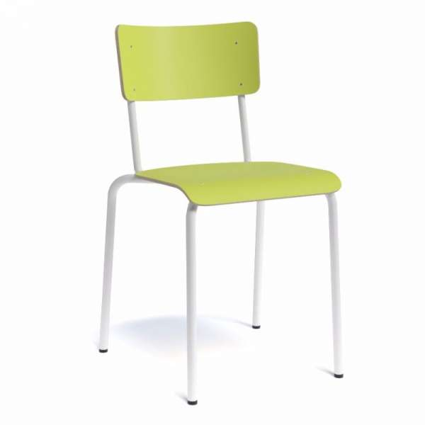 Chaise rétro métal et bois - Collège - 3