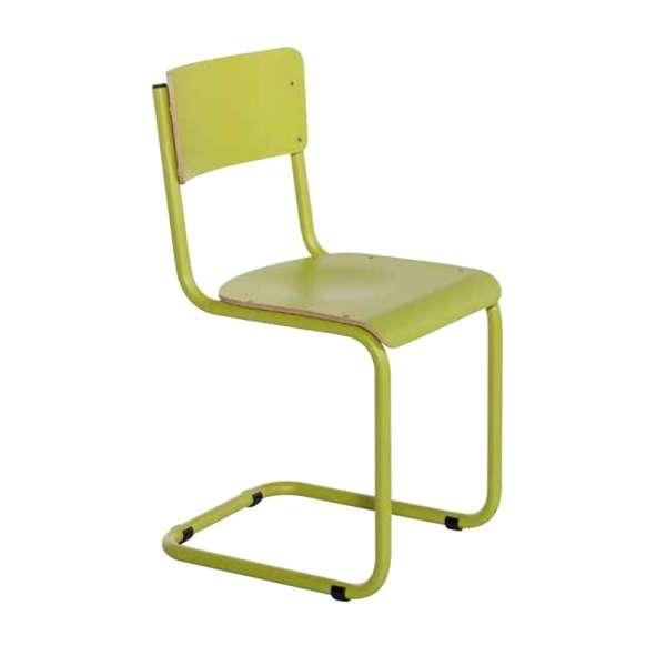 Chaise rétro en bois et métal - Vintage - 7
