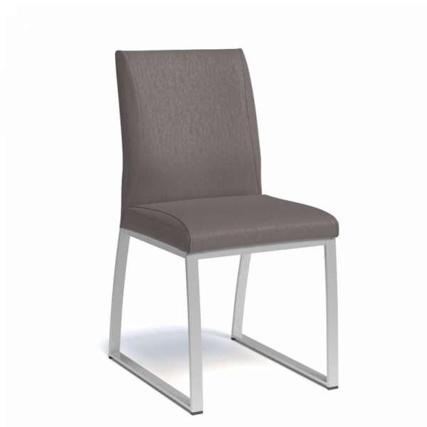 Chaise rembourrée en vinyl et métal - Elite - 1