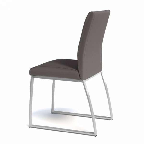 Chaise rembourrée en vinyl et métal - Elite 2 - 2