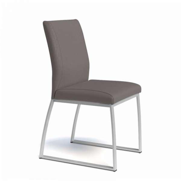 Chaise rembourrée en vinyl et métal - Elite 3 - 3