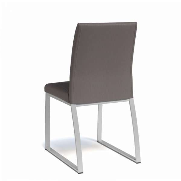 Chaise rembourrée en vinyl et métal - Elite 4 - 4