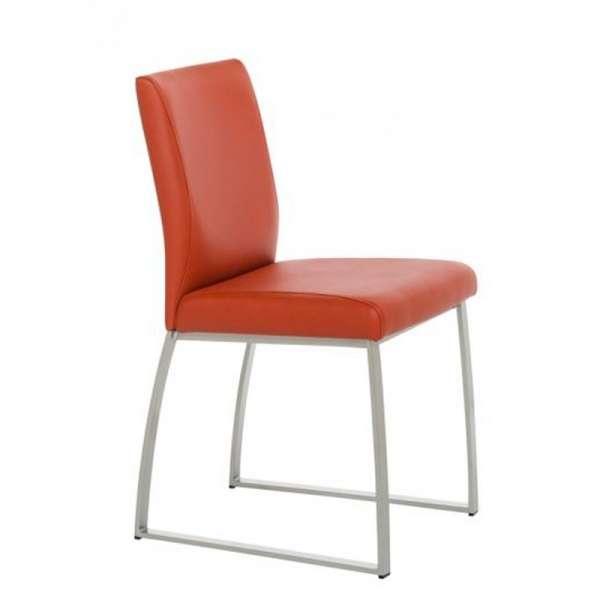 Chaise rembourrée en vinyl et métal - Elite 5 - 5