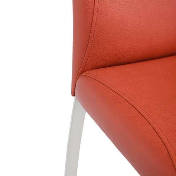 Chaise rembourrée en vinyl et métal - Elite 6 - 6