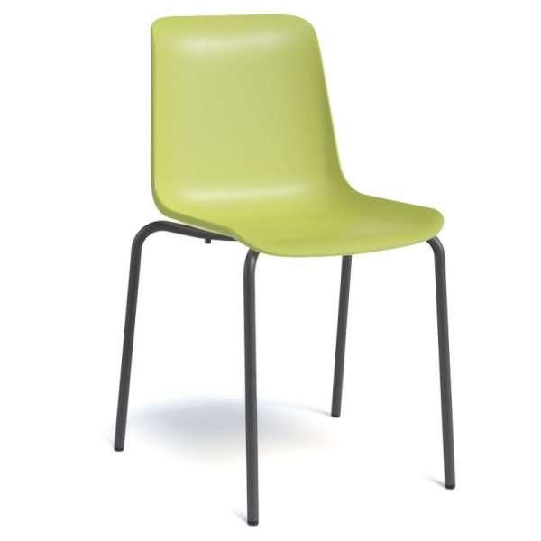 Chaise en polypropylène et métal - Paris 6 - 1