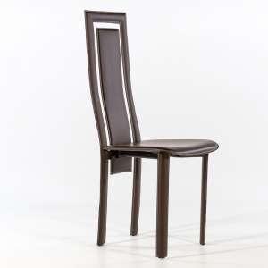 Chaise de salle à manger en croûte de cuir - Betty 4
