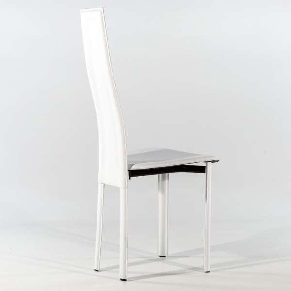 chaise de salle à manger en croûte de cuir - Vegas 3 - 3