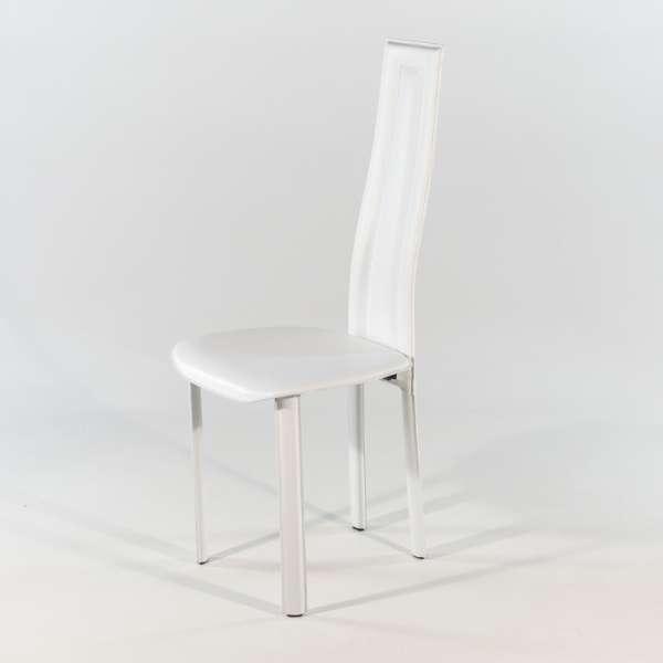 chaise de salle à manger en croûte de cuir - Vegas - 1