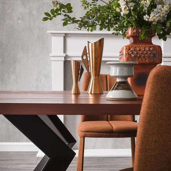 Table de salle à manger design extensible en stratifié et métal - Zoe - 2