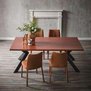 Table moderne en stratifié et métal - Zoe