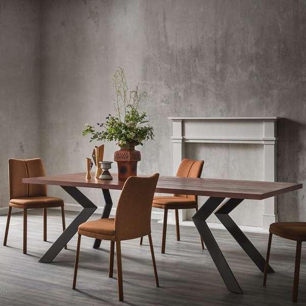 Table design en stratifié et métal - Zoe - 2
