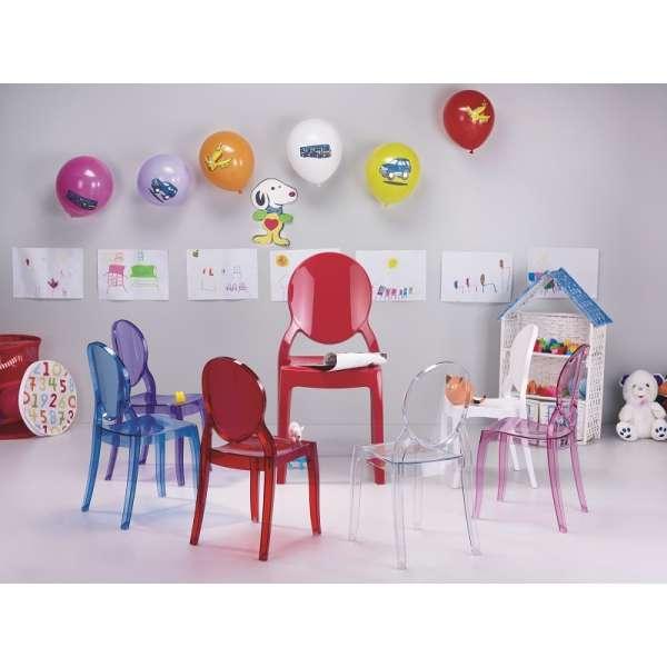 Chaise pour enfant en plexi Elizabeth - 1
