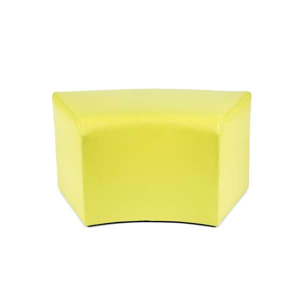 Pouf rectangulaire courbé contemporain jaune - Max C1-8 - 14