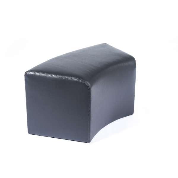 Pouf rectangulaire courbé noir - Max C1-8 - 17