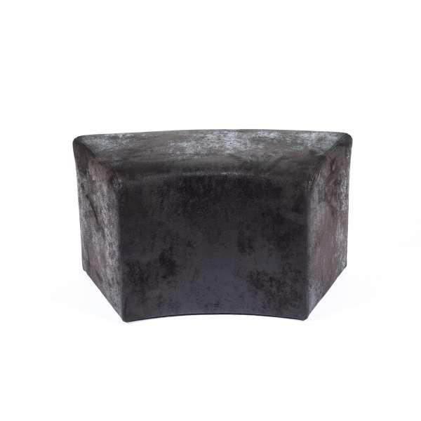 Pouf rectangule courbé contemporain noir en tissu - Max C1-8 - 5
