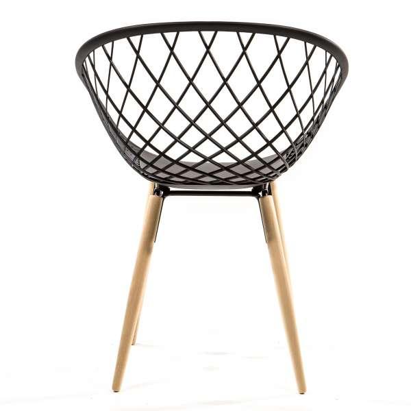 Chaise design noire - Sidera - 3