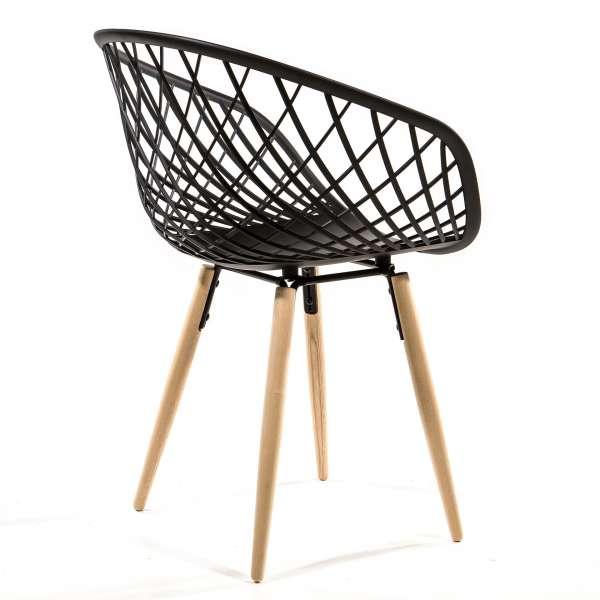 Chaise en polypropylène noir - Sidera - 9