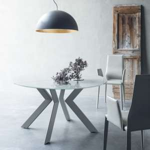 Table ronde extensible en verre - Vale