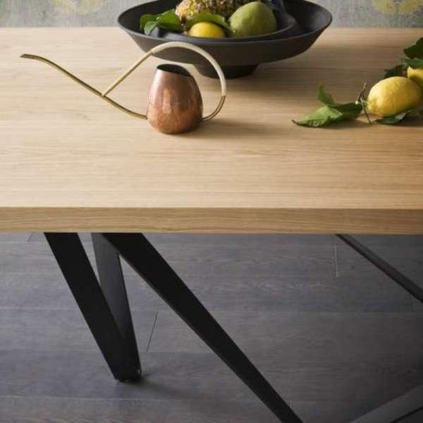 Table extensible design en métal et bois - Wave - 5