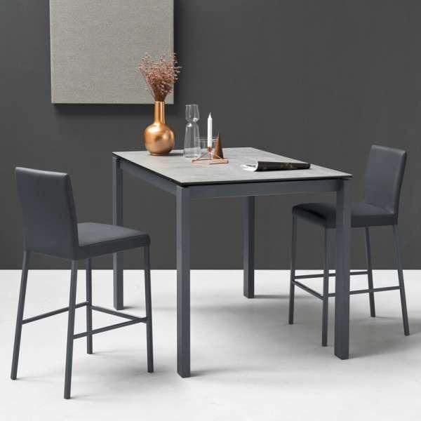 Table snack extensible en céramique et métal - Baron Connubia®