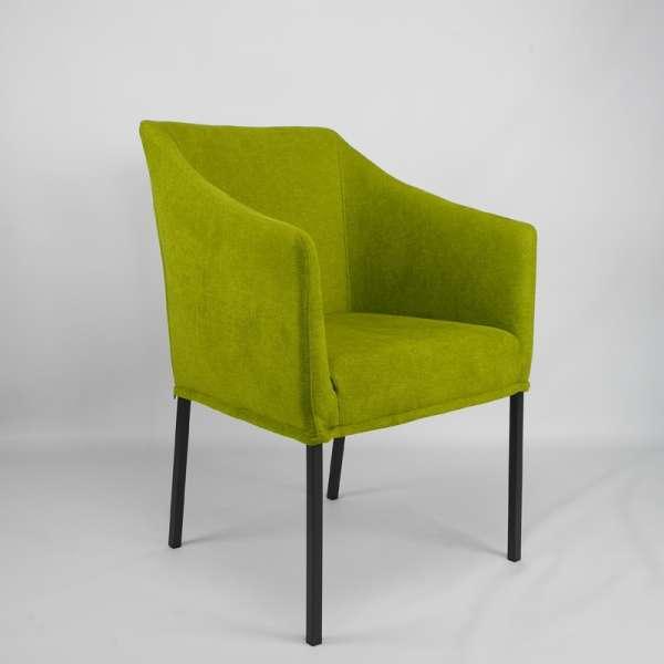 Fauteuil contemporain en tissu vert - Illa - 1
