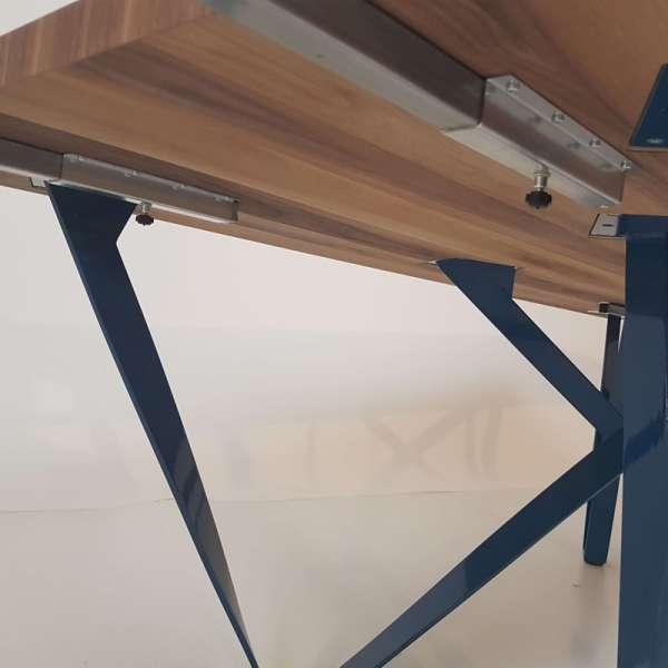 Table extensible moderne en métal et bois - Wave - 7