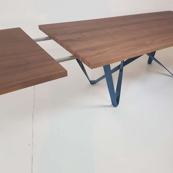 Table avec rallonges en bois - Wave - 10
