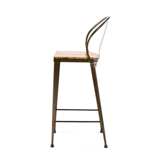 Tabouret style industriel en métal et bois - TB 317 - 6
