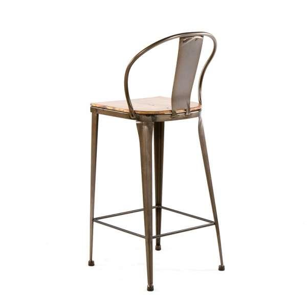 Tabouret style industriel vintage en métal et bois - TB 317 - 3