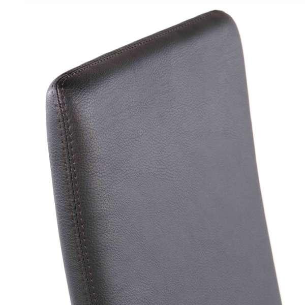 Chaise contemporaine en vinyl gris anthracite - Garda 20 - 20