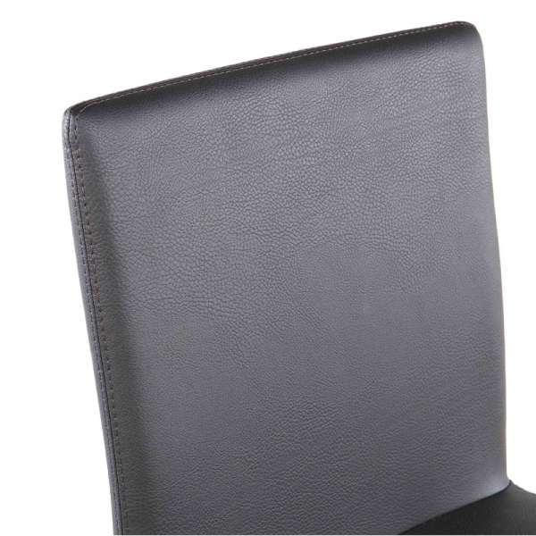 Tabouret contemporain en vinyl gris anthracite - Garda 6 - 8