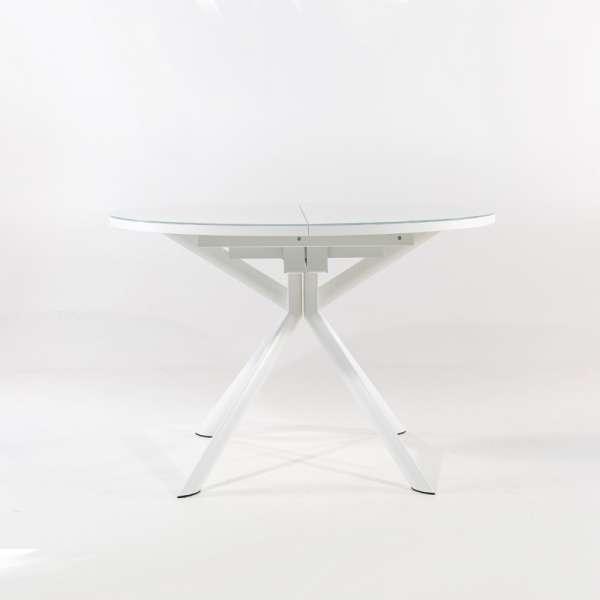 Table ronde extensible en verre blanc - Giove - 3