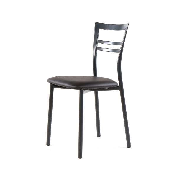 Chaise de cuisine rembourrée en métal - Go 8 - 16