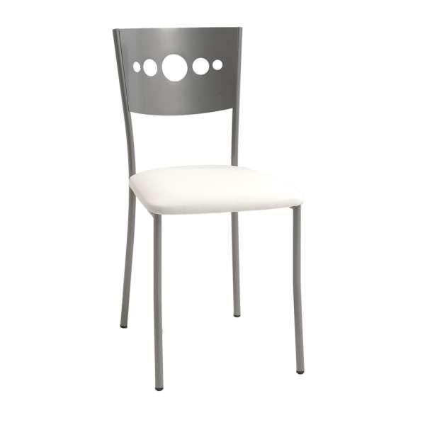 Chaise contemporaine en métal et vinyl - Bilo - 1