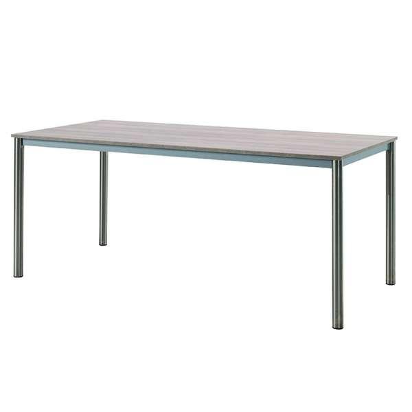 Table contemporaine en mélaminé et métal - Candi - 1